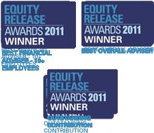 Equity Release Awards 2011 – 3 times Winner