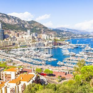 Luxury holiday destination: Monaco, Monte-Carlo Coastline