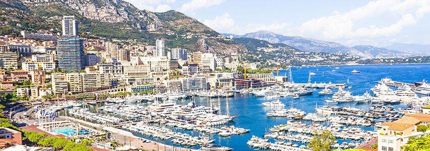 Luxury holiday destination: Monaco, Monte-Carlo Coastline
