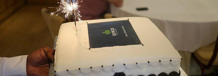 10th Anniversary cake, Bower