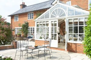 Conservatory, home improvement building extension, house exterior