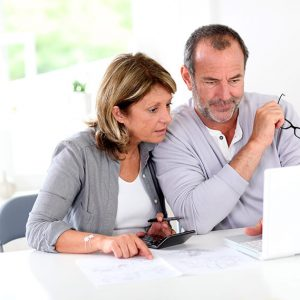 couple checking pensions dashboard