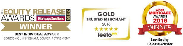 What Mortgage Awards 2016 Winner, Feefo Gold Trusted Merchant 2016, Equity Release Awards Winner 2016