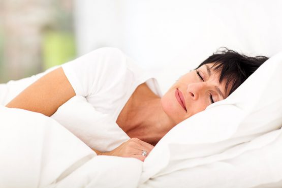 Woman having a peaceful nights sleep