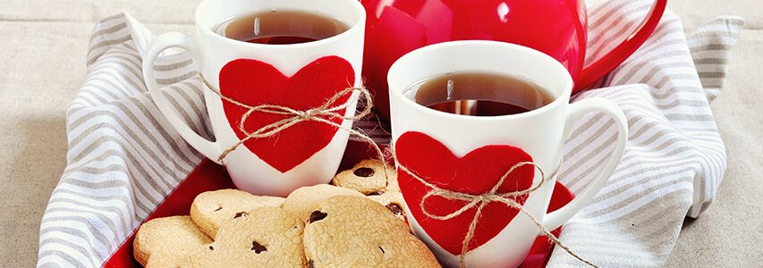 Valentines tea and biscuits for relatives