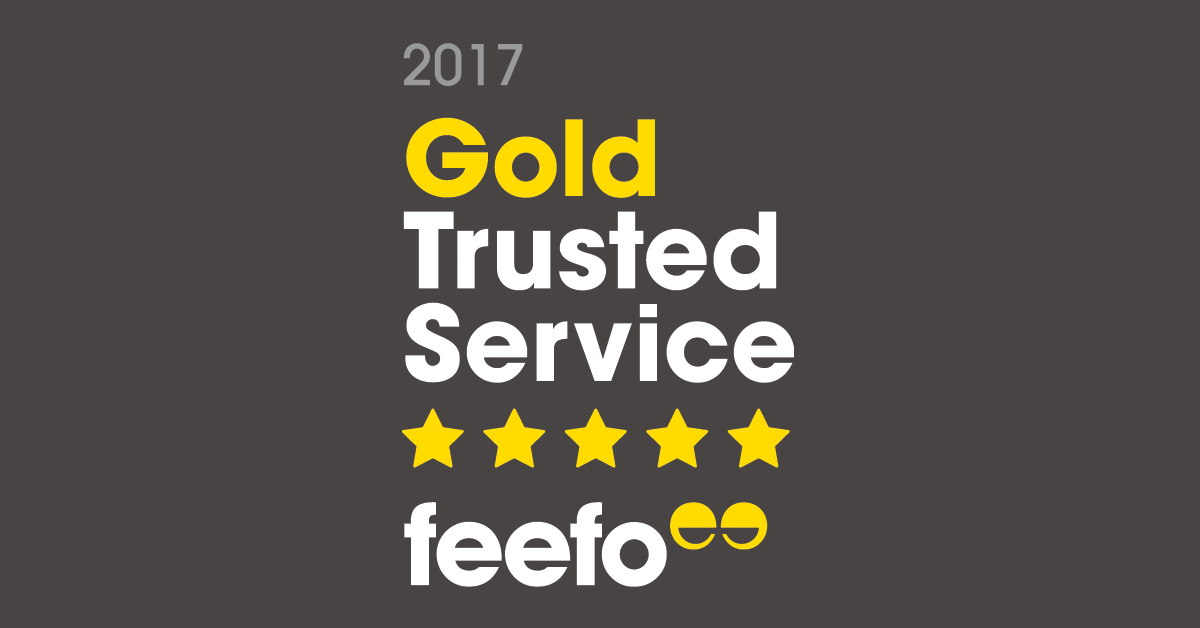 Feefo Gold Trusted Service 2017
