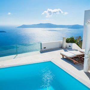 Package holiday Santorini hotel pool