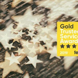 Feefo 2019 service award