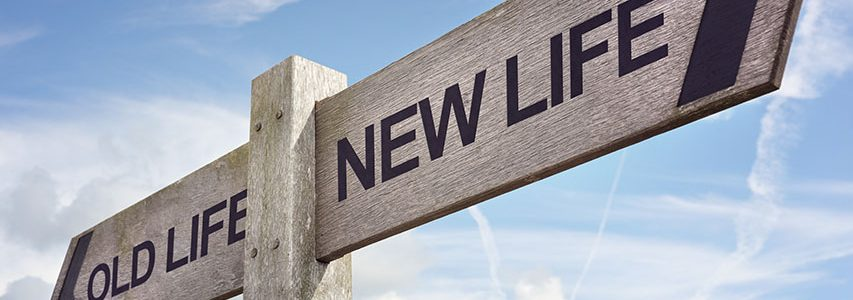 Sign post to old life and new life