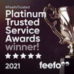 Feefo platinum winner 2021